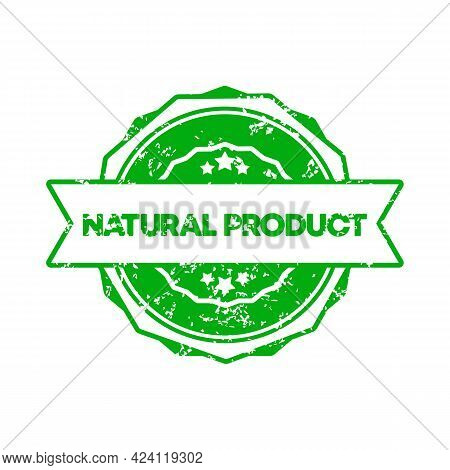 Natural Product Stamp. Vector. Natural Product Badge Icon. Certified Badge Logo. Stamp Template. Lab