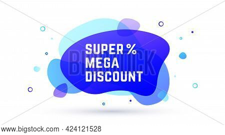 Speech Bubble. Banner, Poster, Speech Bubble, Abstract Modern Graphic Elements With Text Discount. G