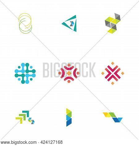 Modern Logo Concept Design For Fintech And Digital Finance Technologies