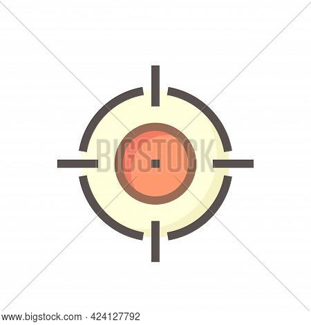 Target Vector Icon. That Crosshair And Round Circle Shape. Sign Or Symbol For Sight To Accurate Aim