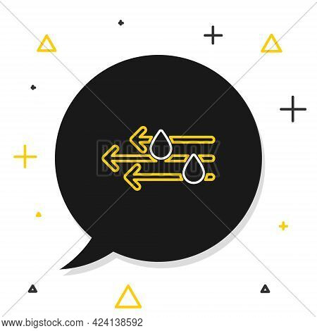Line Wind And Rain Icon Isolated On White Background. Windy Weather. Colorful Outline Concept. Vecto