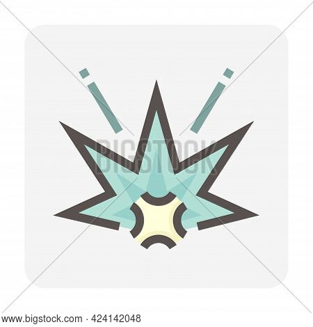 Explode Vector Thin Line Design With Simple Shape. That Icon, Sign, Symbol Or Logo Element Of Effect