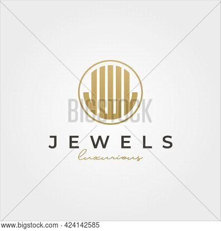 Luxurious Jewel Initial Logotype Vector Symbol Illustration Design, J W L Letters Initial Logo Desig