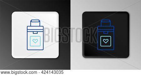 Line Cooler Box For Human Organs Transportation Icon Isolated On Grey Background. Organ Transplantat