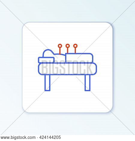 Line Acupuncture Therapy Icon Isolated On White Background. Chinese Medicine. Holistic Pain Manageme