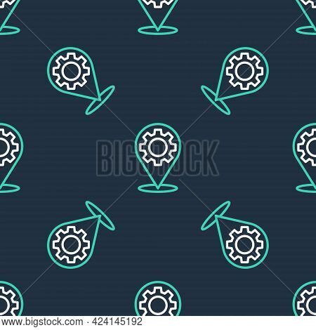 Line Car Service Icon Isolated Seamless Pattern On Black Background. Auto Mechanic Service. Repair S