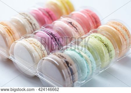 tasty macaroons in the box