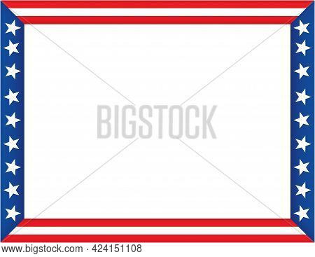 American Flag Border Template Frame Stars And Stripes