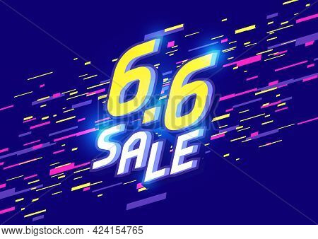 6.6 Shopping Day Sale Poster Or Flyer Design. 6.6 Sale Online Banner Template.
