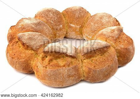 Beautiful Cornbread Isolated On A White Background.