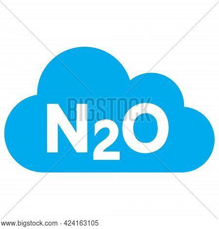 Nitrous Oxide Gas Icon With Flat Style. Isolated Raster Nitrous Oxide Gas Icon Illustrations, Simple