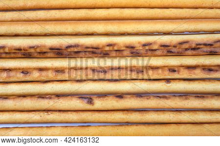 Background From Bread Sticks. Art Bread. Bakery Products .