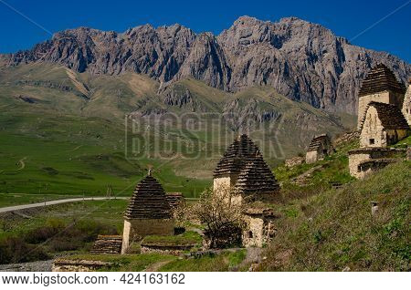 The Dargavs Necropolis In The Mountains Of North Ossetia. Ancient Burial In The Mountains