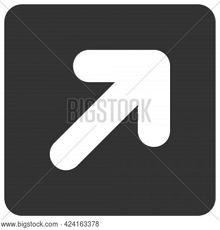 Right Up Direction Icon With Flat Style. Isolated Raster Right Up Direction Icon Illustrations, Simp