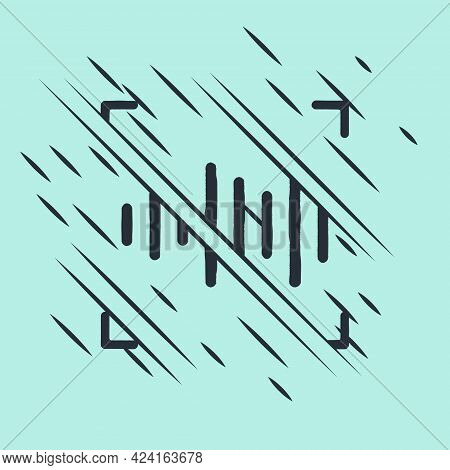 Black Voice Recognition Icon Isolated On Green Background. Voice Biometric Access Authentication For