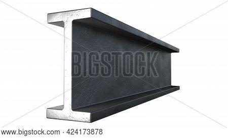 Flange Beam Rolled Metal, Isolated Cg Industrial 3d Rendering