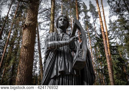 Monument To Muse Erato Playing A Kithara. Pavlovsk, Russia. Fyodor Gordeyev, 1787.