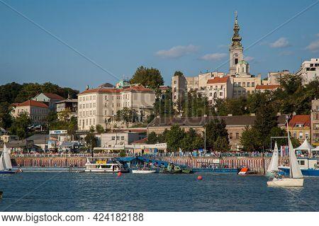 30 August 2008  Belgrade Serbia, Boat Carnival, Sunset Regatta On Sava River