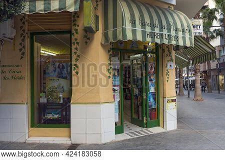 05-10-2021. Torrevieja, Alicante, Spain. Herbalist Store La Casa De Las Plantas (the House Of Plants