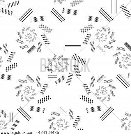 Screen Printing Seamless Pattern. Radiant Striped Abstract Vortex. Circular Pattern. Pop Art Round H