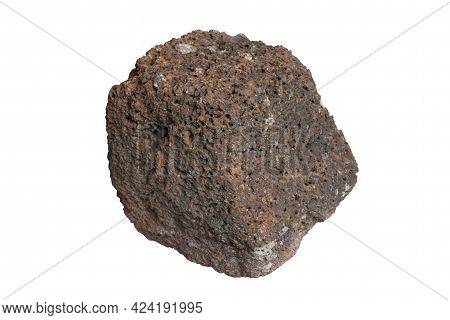 Laterite Stone Isolated On White Background Included Clipping Path.