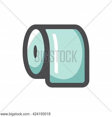 Toilet Paper Lavatory Vector Icon Cartoon Illustration
