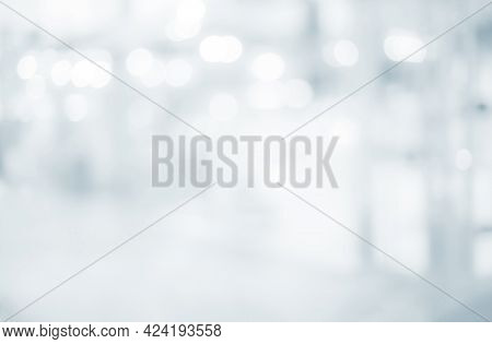 Abstract  Blur Background From Hospital And Clinic Interior, For Create Background Or Design Key Vis