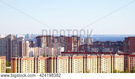 Primorsky District In Saint Petersburg Against Blue Sky, Russia.