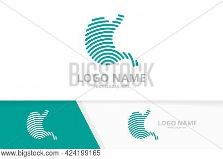 Modern Stomach Logo Design. Health Stomach Logotype Design Template.