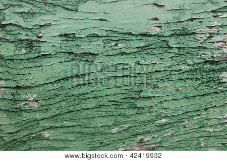 Cracked wood wall