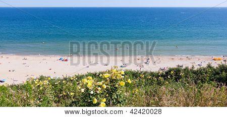 Bournemouth Beach From Cliffs