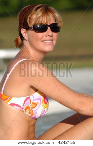 Woman At Pool