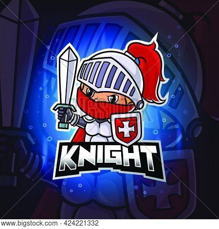 The Guardian Knight Mascot Esport Logo Design Of Illustration