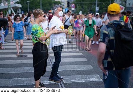 Vienna, Austria - June 19, 2021: Werner Kogler, Vice Chancellor Of Austria, Head Of Green Party, At