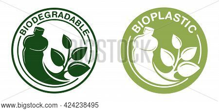 Biodegradable Badge - Plastic Bottle Turns To Plant Branch - Eco Friendly Compostable Material Produ