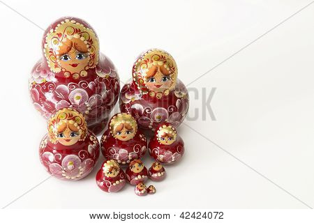 Russian Wooden Doll Grouping