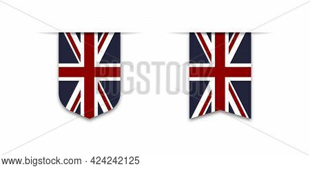Flag Of The Great Britain. Label Flag Icon, Checkbox Sign. Flags Of The World. Vector Illustration