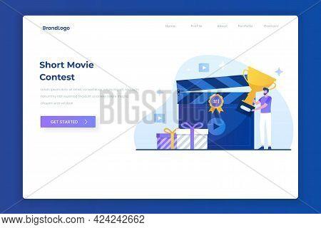 Video Contest Illustration Landing Page Concept