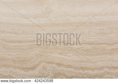 Closeup Of Natural Travertine Stone. Background For Perfect Design Project.