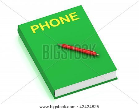 Phone Inscription On Cover Book