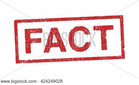 Vector Illustration Of The Word Fact In Red Ink Stamps