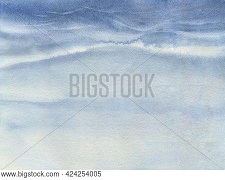Watercolor Sky Background. Stormy Sky. Dramatic Sky Background