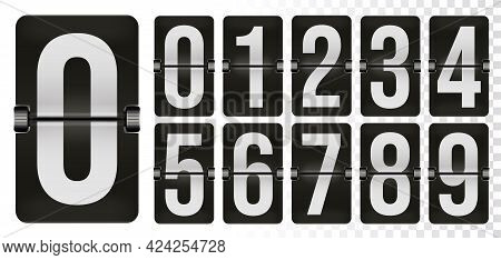 Mechanical Scoreboard Number Set For Flip Clock Time Counter. Alarm Timer, Score Day Date Numeric Me