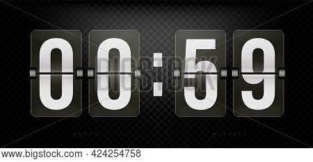 Split-flap Flip Counter, Retro Scoreboard With Numerals. Retro Clock, Number Counter, Time Countdown