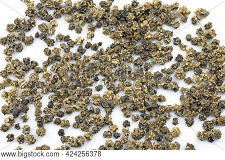 Beet Seeds On A White Background. Dry Beet Seeds Top View. Growing Vegetables.