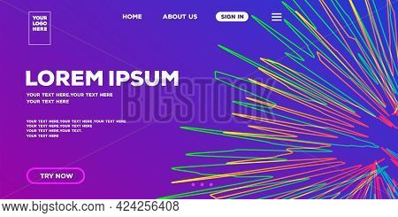 Web Page Template Modern Light Background For Home Page Design. Web Page Template. Landing Page Temp