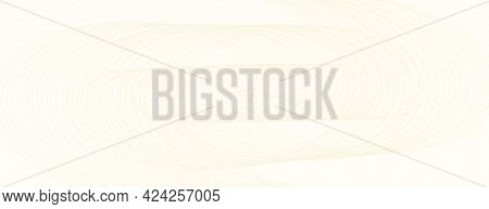 Beige Swirl Pattern, Guilloche. Light Colored Watermark. Curled Subtle Lines, Squiggle Curves. Vecto