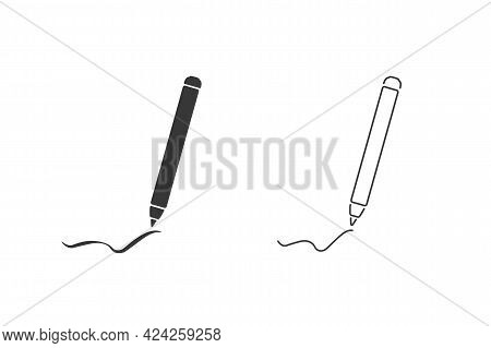 Black Pencil Line Pattern Happy Word Pencil Day Teachers Day Fun Funny Write Draw Brushes Edit Icon