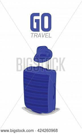 Suitcase Vector Illustration Isolated On White Background -go Travel, Trip, Template Travel Concept.