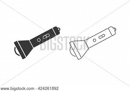 Flashlight Vector Icon Set. Flashlight Flat Sign Design